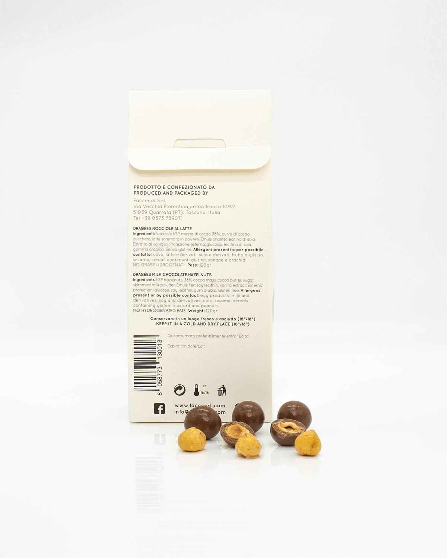 Dragees Nocciole IGP con Cioccolato al Latte   Faccendi